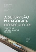 A supervisão pedagógica no século XXI: desafios da profissionalidade docente